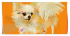 Dog Chihuahua Orange Hand Towel