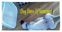 Dog Days Of Summer Hand Towel