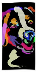 Dog Iggy Color Me Bright Hand Towel