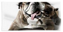 Dog Mastiff Hand Towel by Evgeniy Lankin