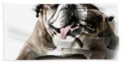 Dog Mastiff Bath Towel by Evgeniy Lankin