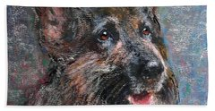 Doggy Dreams Hand Towel by Richard James Digance
