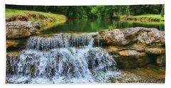 Dogwood Canyon Falls Bath Towel by Elizabeth Winter