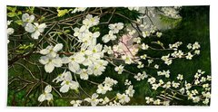 Bath Towel featuring the painting Dogwoods Virginia by Melly Terpening