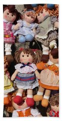 Hand Towel featuring the photograph Dolls by Marcia Socolik