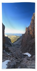 Hand Towel featuring the photograph Dolomites At Morning by Antonio Scarpi