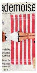Dolores Hawkins On A Beach Bath Towel