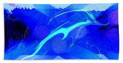 Hand Towel featuring the digital art Dolphin Abstract - 1 by Kae Cheatham
