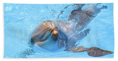 Dolphin Swimming Hand Towel