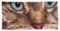 Domestic Tabby Cat Hand Towel
