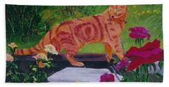 Domestic Tiger Bath Towel