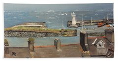 Bath Towel featuring the painting Donaghadee Ireland Irish Sea by Brenda Brown