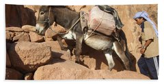 Donkey Of Mt. Sinai Bath Towel