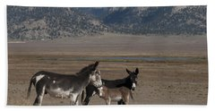 Donkeys In The Colorado Rockies Bath Towel