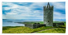 Hand Towel featuring the photograph Doonagore Castle In Ireland's County Clare by James Truett