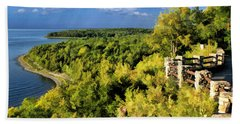 Door County Peninsula State Park Svens Bluff Overlook Bath Towel