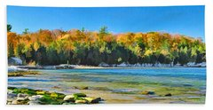 Door County Wisconsin Bay Panorama Bath Towel