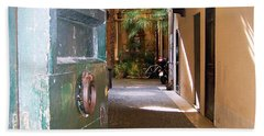 Door In Florence Hand Towel by Debby Pueschel