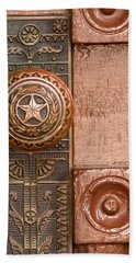 Door To Texas State Capital Bath Towel by David and Carol Kelly