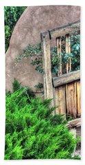 Door, Santuario De Chimayo Hand Towel by Lanita Williams