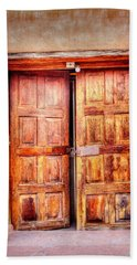 Doors To The Inner Santuario De Chimayo Hand Towel by Lanita Williams