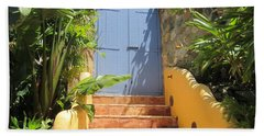 Doorway To Paradise Hand Towel by Fiona Kennard