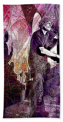 Double Bass Silhouette  Hand Towel