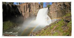 Double Rainbow Falls Hand Towel by Adam Jewell
