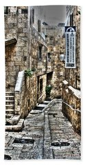 Hand Towel featuring the photograph Downtown In Jerusalems Old City by Doc Braham