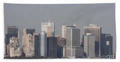 Downtown Manhattan Shot From The Staten Island Ferry Hand Towel
