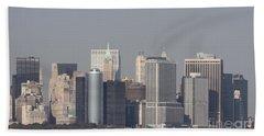 Downtown Manhattan Shot From The Staten Island Ferry Bath Towel