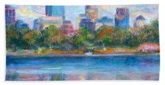 Downtown Minneapolis Skyline From Lake Calhoun Hand Towel