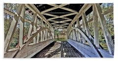 Bath Towel featuring the photograph Dr. Knisely Covered Bridge by Suzanne Stout