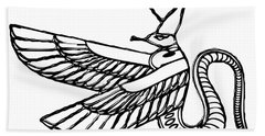 Dragon - Demon Of Ancient Egypt Bath Towel