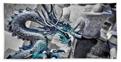 Dragon Fountain Bath Towel