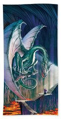 Dragon Lair With Stairs Hand Towel by The Dragon Chronicles - Robin Ko