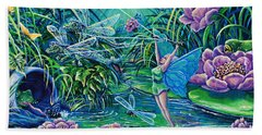 Dragonflies Bath Towel by Gail Butler
