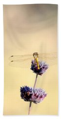 Bath Towel featuring the photograph Dragonfly by AJ  Schibig