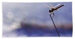 Dragonfly Blue Bath Towel
