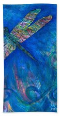 Dragonfly Flying High Bath Towel by Denise Hoag
