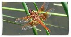 Dragonfly Orange Hand Towel