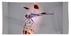 Hand Towel featuring the photograph Dragonfly by Savannah Gibbs