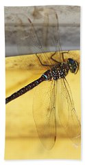 Bath Towel featuring the photograph Dragonfly Web by Melanie Lankford Photography