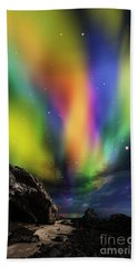 Bath Towel featuring the digital art Dramatic Aurora by Atiketta Sangasaeng