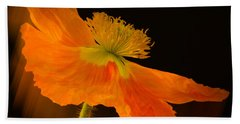 Dramatic Orange Poppy Hand Towel by Don Schwartz