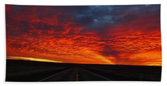 Hand Towel featuring the photograph Dramatic Sunrise by Lynn Hopwood