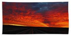 Bath Towel featuring the photograph Dramatic Sunrise by Lynn Hopwood