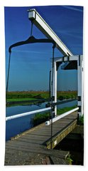 Drawbridge At Zaanse Schans Hand Towel by Jonah  Anderson