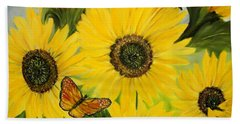 Bath Towel featuring the painting Dreaming Of Summer by Carol Sweetwood