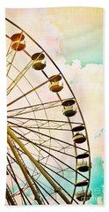 Dreaming Of Summer - Ferris Wheel Hand Towel
